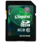 Карта памяти Kingston SDHC 8Gb SD10V/8GB Video Class10 Kingston