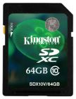 Карта памяти Kingston SDXC 64Gb Сlass 10 (SDX10V/64GB) Kingston