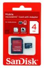 Карта памяти SanDisk Class4 + SD Adapter (SDSDQM-004G-B35A) 4Gb Sandisk