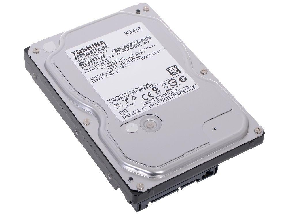 """Toshiba 500Gb, 7200об/мин, 32Mb, 3,5"""", SATA III, DT01ACA050"""