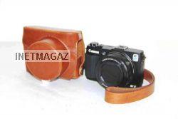 Pajiatu ретро кожаный pu защитный чехол камеры с зарядным портом для canon powershot g1x mark ii g1x м2 2017