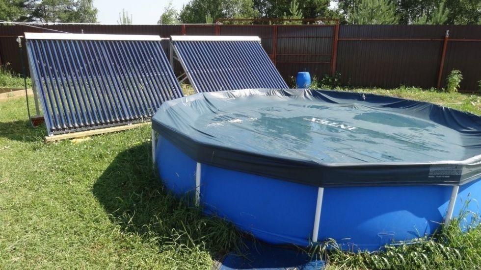 Солнечный коллектор воды для бассейна своими руками 46